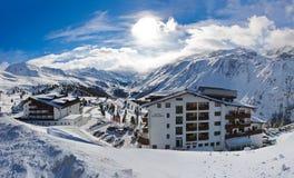 Estância de esqui Hochgurgl Áustria da montanha Imagens de Stock
