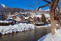 Estância de esqui Hofgastein ruim - Áustria das montanhas Imagem de Stock