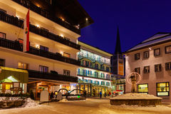 Estância de esqui Hofgastein ruim Áustria das montanhas Foto de Stock Royalty Free