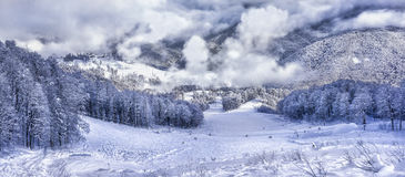 Estância de esqui Krasnaya Polyana SOCHI Fotos de Stock Royalty Free