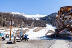 Estância de esqui Les Orres, Hautes-Alpes, França Fotos de Stock
