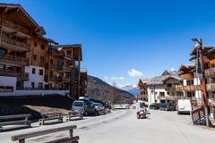 Estância de esqui Les Orres, Hautes-Alpes, França Imagem de Stock