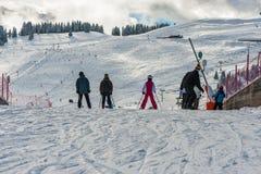 Estância de esqui nos alpes Fotografia de Stock