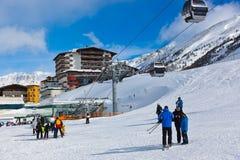 Estância de esqui Obergurgl Áustria da montanha Fotos de Stock