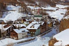 Estância de esqui Solden Áustria das montanhas Foto de Stock Royalty Free