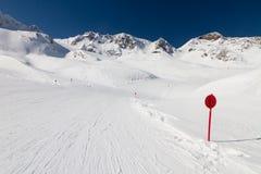 Estância de esqui Stubai de Winer Fotografia de Stock Royalty Free