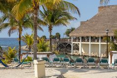 Estância de verão tropical de Paradise, Maya de Riveria, México imagens de stock