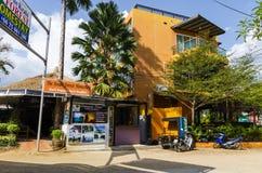Estância turística da rua de Ao Nang. imagens de stock