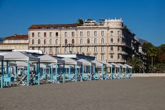 A estância turística de Viareggio fotos de stock royalty free