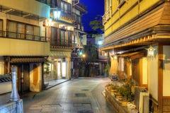 Estância turística Shibu Onsen de Hot Springs Fotografia de Stock Royalty Free