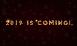 2019 estão vindo! Fotografia de Stock Royalty Free