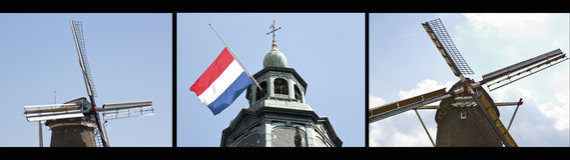 Esté de luto la muerte de un príncipe holandés, Holanda Fotos de archivo libres de regalías