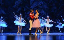 Esté en amor con- el primer acto del cuarto país de la nieve del campo - el cascanueces del ballet Foto de archivo libre de regalías