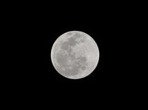 Esté en la luna, eclipse lunar del total visto de Utila, Honduras Fotos de archivo