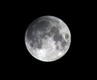 Esté en la luna, eclipse lunar parcial Los Ángeles, California Imagenes de archivo