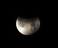 Esté en la luna, eclipse lunar parcial Los Ángeles, California Fotografía de archivo libre de regalías