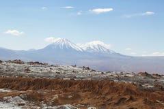 Esté en la luna el la Luna Landscape del valle o de Valle de en el desierto de Atacama Imágenes de archivo libres de regalías
