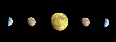 Esté en la luna en el cielo oscuro Imagenes de archivo