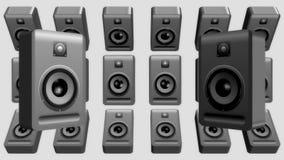 Estéreo sano audio de la música de los Presidentes ilustración del vector