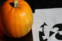 Estêncil da abóbora de Halloween Foto de Stock Royalty Free