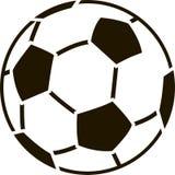 Estêncil da bola de futebol Fotografia de Stock