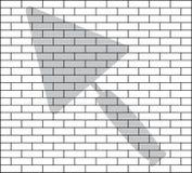 Estêncil da parede de tijolo Imagens de Stock Royalty Free