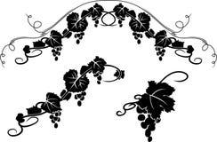Estêncil decorativo da uva ilustração do vetor