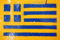 Estêncil grego da bandeira Foto de Stock