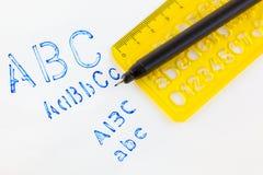 Estêncil plástico Foto de Stock Royalty Free