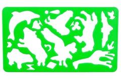 Estêncil plástico velho Imagem de Stock