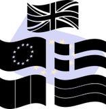 Estêncis de bandeiras de Europa Imagem de Stock
