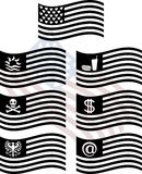 Estêncis de bandeiras dos EUA da fantasia Imagens de Stock Royalty Free
