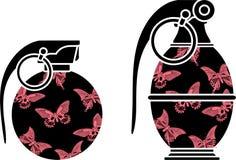 Estêncis de granadas do encanto ilustração stock