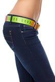 Estómago delgado. concepto de la dieta Imagenes de archivo