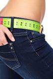 Estómago delgado. concepto de la dieta Imagen de archivo