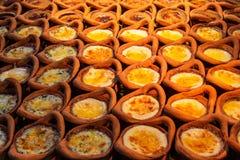 Estómago Kaeng, Mung Bean Thai Custard Dessert Recipe de Khanom en un pequeño fotografía de archivo libre de regalías