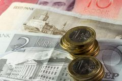 Estónia e o euro imagens de stock