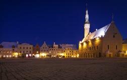 Estónia: Quadrado da câmara municipal de Tallinn Foto de Stock Royalty Free