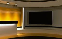 Estúdio amarelo Foto de Stock Royalty Free