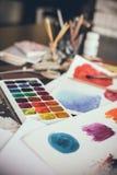 Estúdio artístico Fotografia de Stock Royalty Free