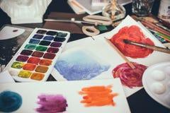 Estúdio artístico Imagem de Stock Royalty Free