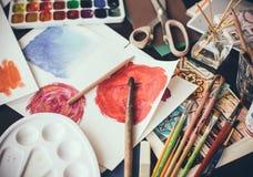 Estúdio artístico Imagens de Stock Royalty Free