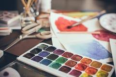 Estúdio artístico Foto de Stock Royalty Free