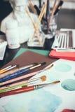 Estúdio artístico Fotos de Stock Royalty Free
