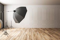 Estúdio clássico claro da foto ilustração stock