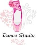 Estúdio da dança logotype Imagens de Stock