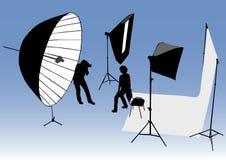 Estúdio da foto Fotografia de Stock