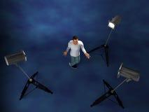 Estúdio da instalação da iluminação Fotografia de Stock Royalty Free