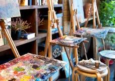 Estúdio da pintura Fotografia de Stock
