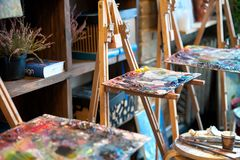 Estúdio da pintura Imagem de Stock Royalty Free